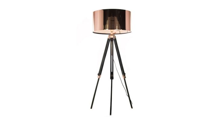 Lampadaire tripod Kirkenes couleur cuivre prix Lampadaire Mobilier Moss 339.00 €