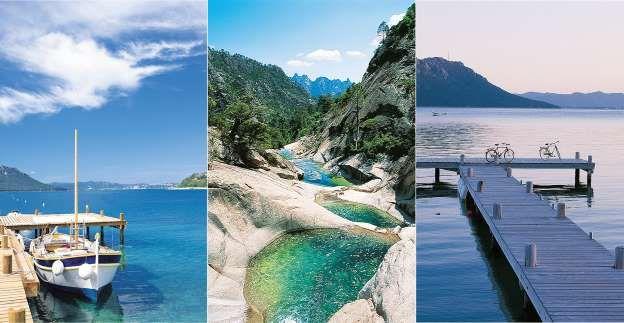 Un paradis naturel. Dès l'arrivée à la réception du Grand Hôtel de Cala Rossa…