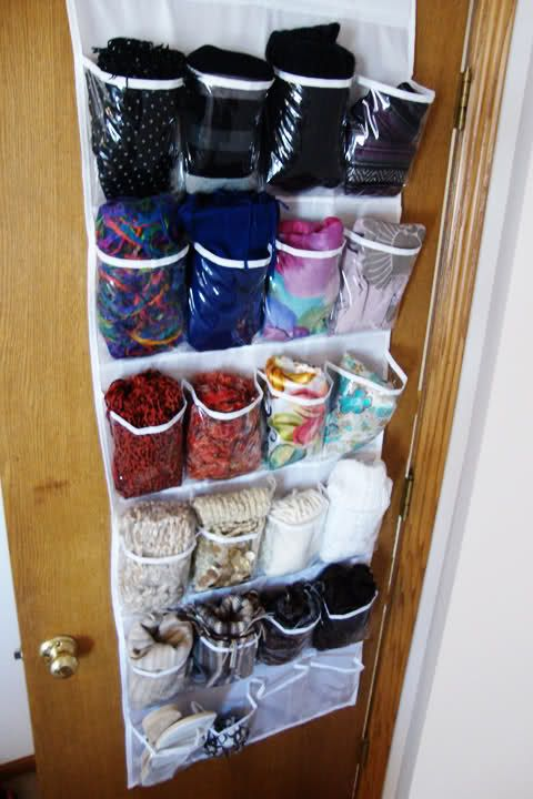 Scarf storage - I need to do this.