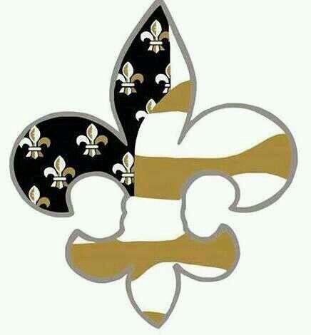 Fleur De Lis logo Saints Who dat!!