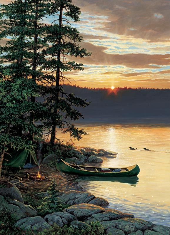 Canoe Lake | Jigsaw Puzzles, Games and Toys for Kids | PuzzleWarehouse.com