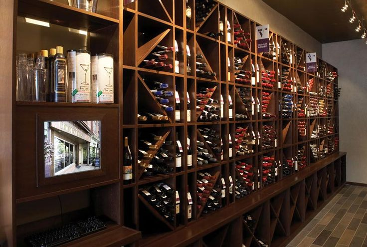 Elegant use of wine cubes for wine storage and display