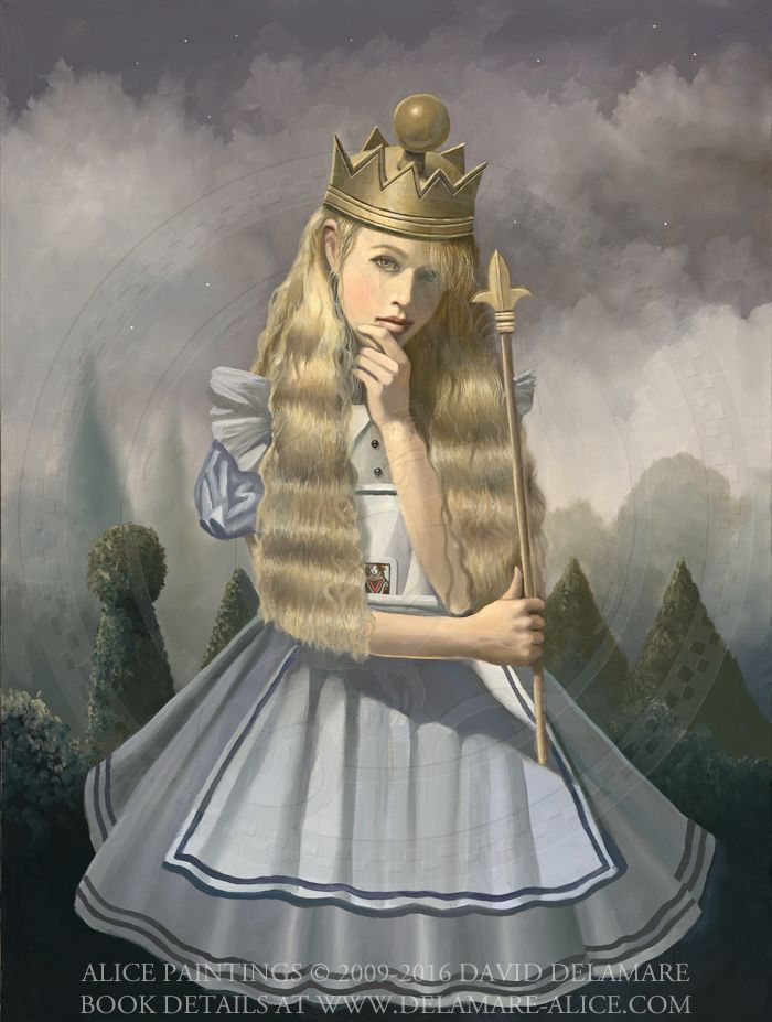 "Queen Alice - ""Alice's Adventures in Wonderland"" by David Delamare."