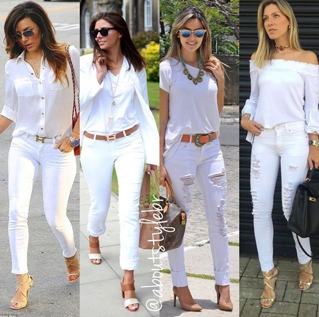 White outfits for women, Chic outfits