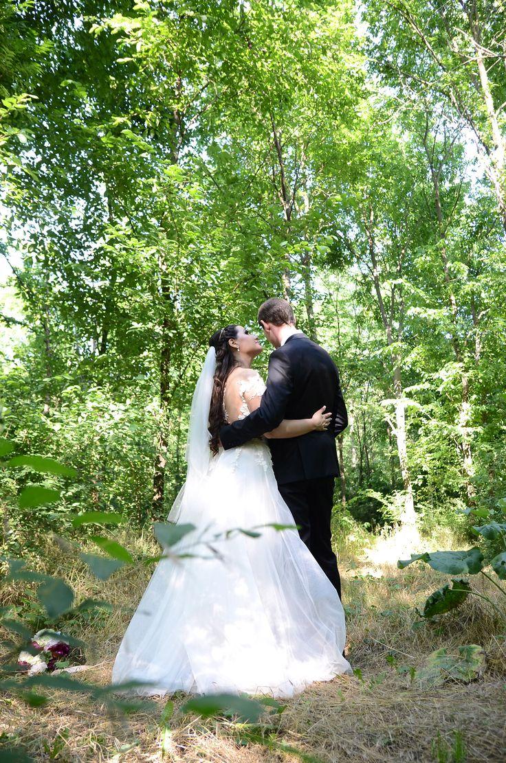 Wedding photo forest