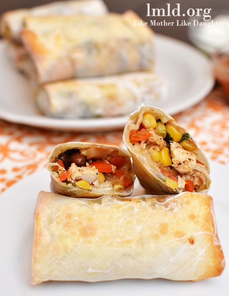 These southwest chicken rolls have lots of delicious ingredients including shredded chicken, corn, tomatoes, etc. They make a great appetizer or main dish.
