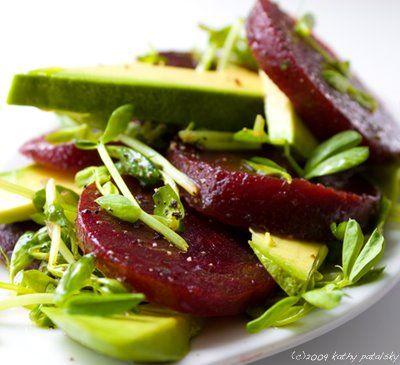 Simple Avocado Beet Salad