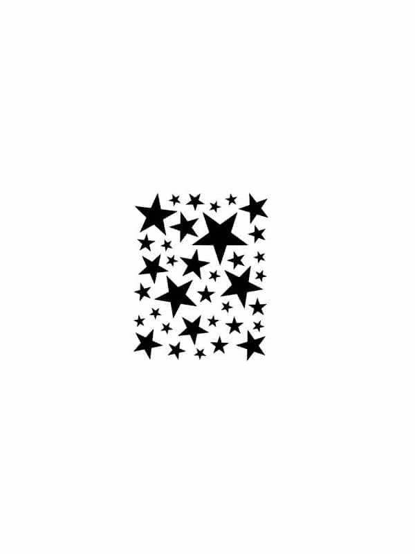 Väggdekor - Stjärnor passande till barnrummet i en tavla.