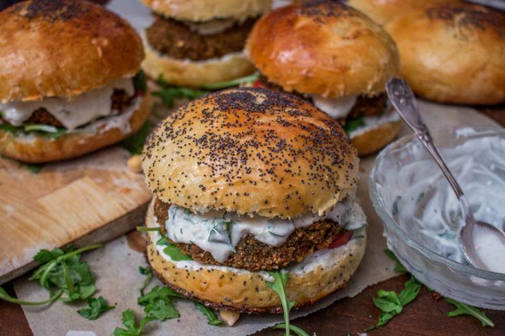 Falafel burger ou burger végétarien qui fait du bien