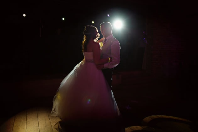 Romantic, rim lit first dance / nealejames.com