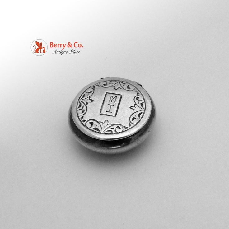 Sterling Silver Small Pill Box 1910 from berrycom-com on Ruby Lane