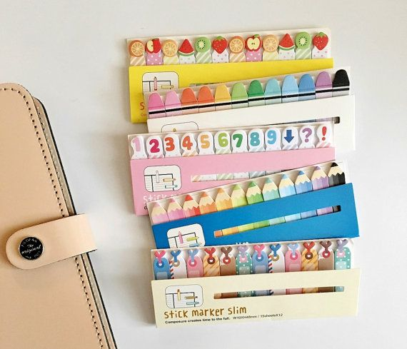 Slim Sticky Memo  Cute Sticky Notes for Filofax / by PapergeekCo