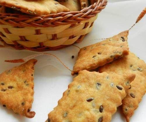 Крекеры с семенами льна  / Простые рецепты