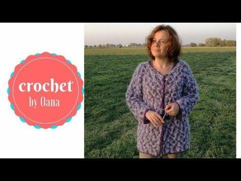 9c3e3a4dc963 Crochet Jasmin Jacket by Oana - YouTube