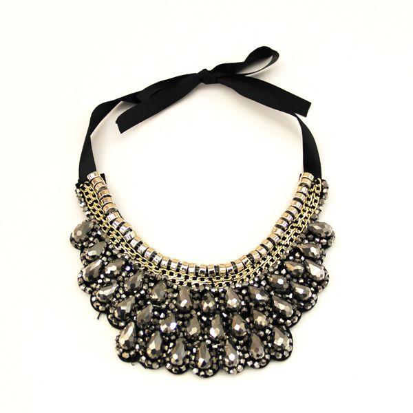 SILVER BEADED COLLAR #NECKLACE JKN216SI #jacquelinekent #ksajewelry #jacquelinekentjewelry