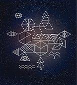 Geometria sacra. Alchimia, spiritualità, simboli e sfondo hipster