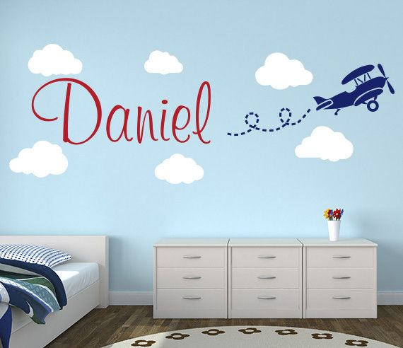 Airplane Wall Decal Name - Check this Out!
