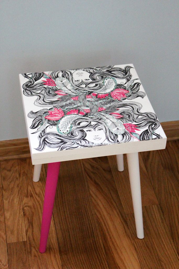 Stool, chair - handmade by Rekoko.      Visit: www.rekoko.pl https://www.facebook.com/justynamagierrekoko/