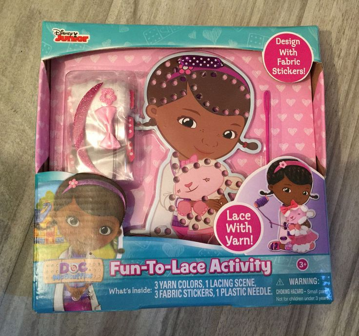 FUN - TO - LACE - ACTIVITY Disney Junior DOC MC Stuffing Dising W Fabric Sticker