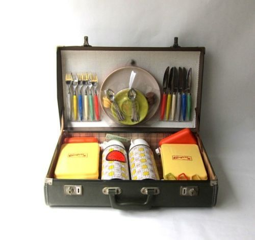 Vintage Retro 1960s Carefree Portable Picnic SET IN ITS OWN Case | eBay