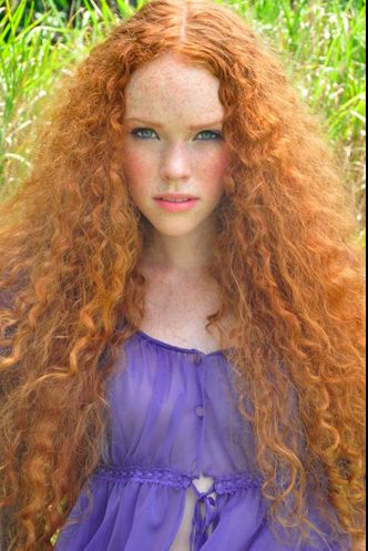 Alexandra Madar - Long red curly hair