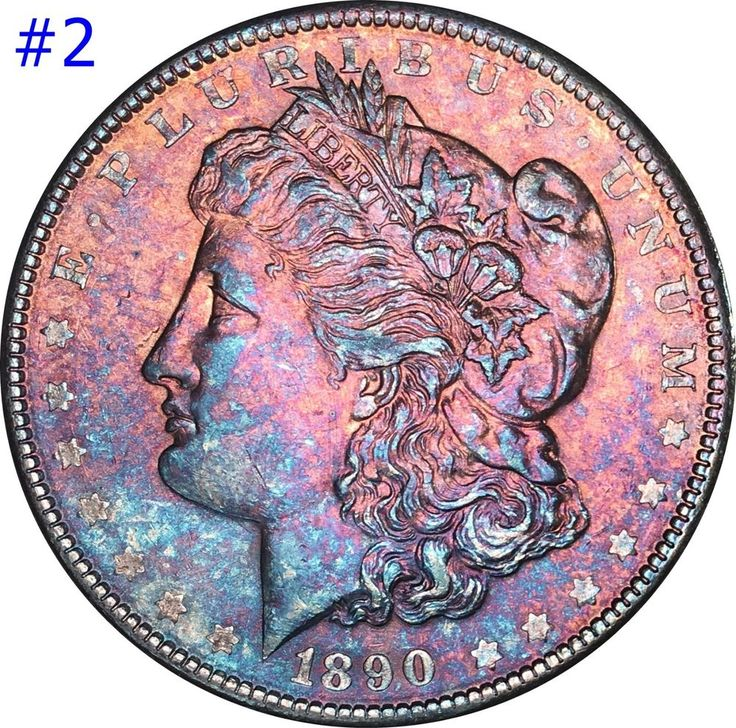 1890 Morgan Silver Dollar Selection Lot BU  Monster  Color Toned Gems look now