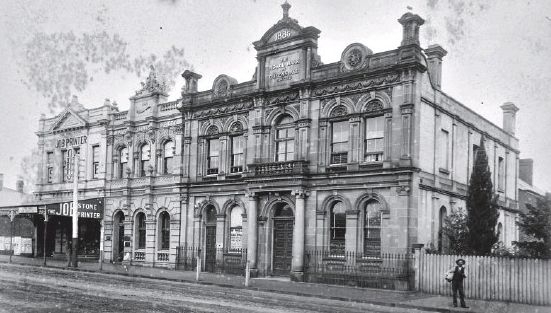 HISTORIC: AMP Building and Royal Bank of Queensland Buildings of Toowoomba from National Trust collection.