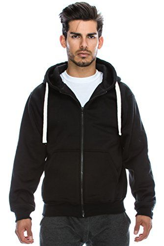 Mens Hipster Hip Hop Basic Heavyweight Zipup Hoodie Jacket (size upto 6XL Plus) - http://www.darrenblogs.com/2017/01/mens-hipster-hip-hop-basic-heavyweight-zipup-hoodie-jacket-size-upto-6xl-plus/