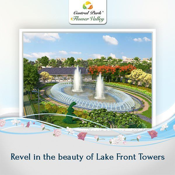 Flora Fountains at Lake Front Towers in #CentralParkFlowerValley are a perfect place for you to have a leisurely walk with your friends and family.