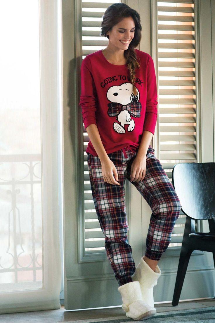 SNOOPY Desenli Pijama Takımı 228440 | DeFacto