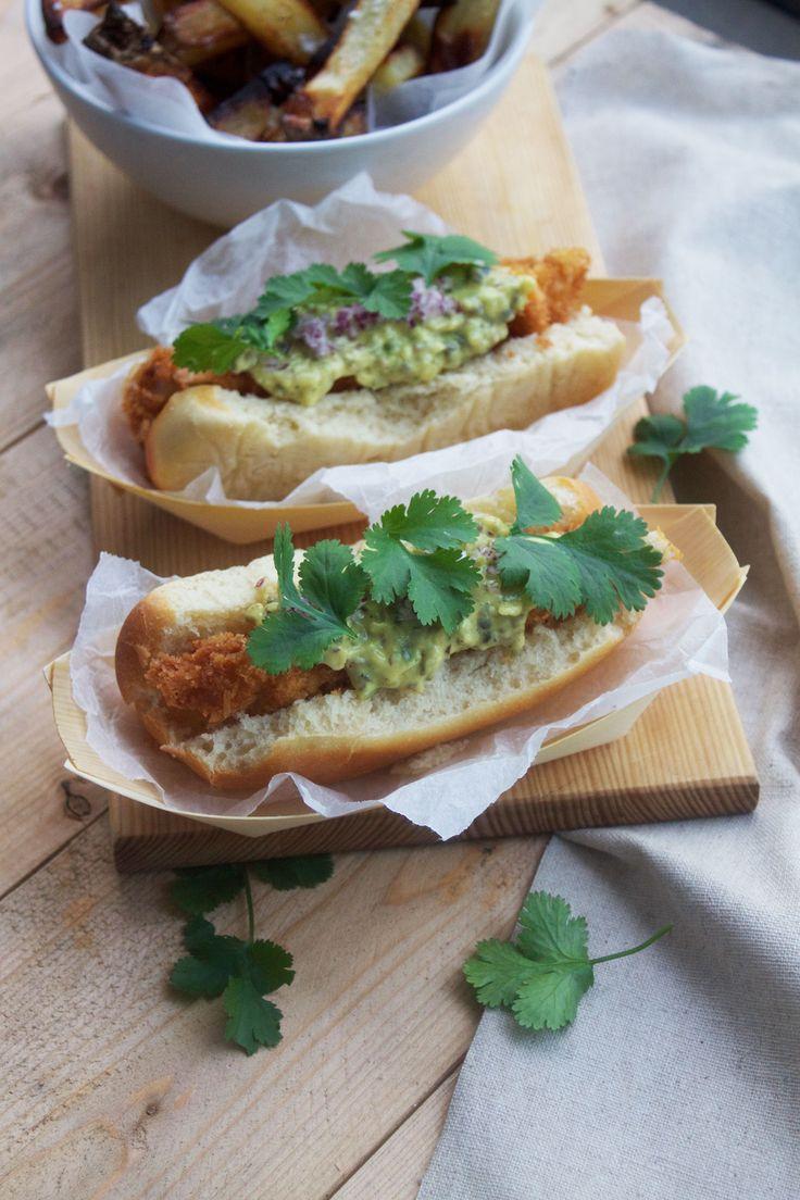 Hotdog with squids // Hotdog med blæksprutte