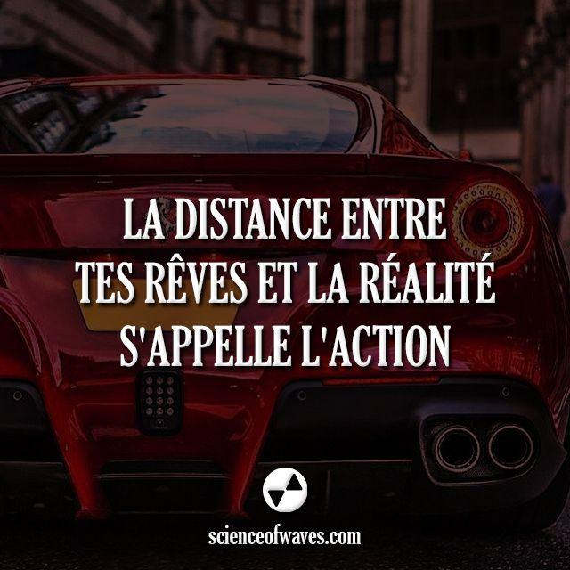La distance entre tes rêves et la réalité s'appelle l'action.  #motivation #citations #citation #entrepreneur #rêve