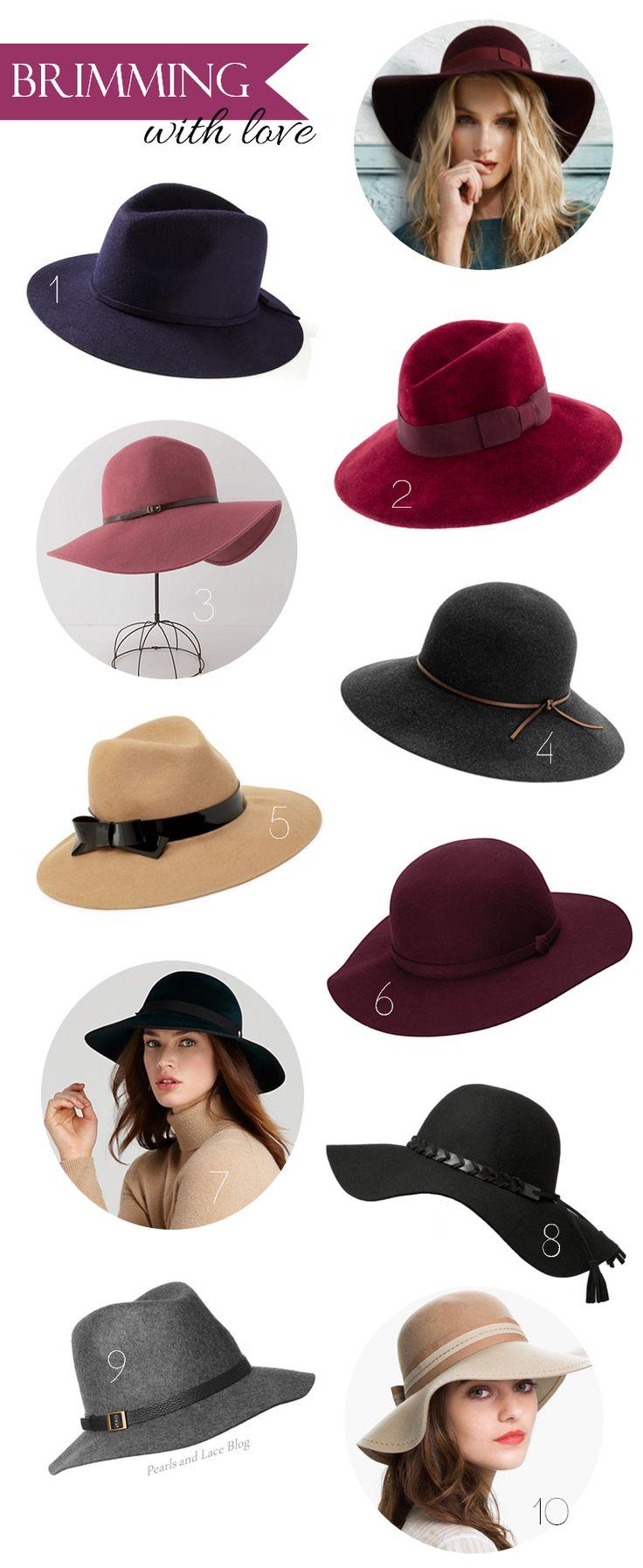 Floppy Brimmed Hats | pearlsandlaceblog.com