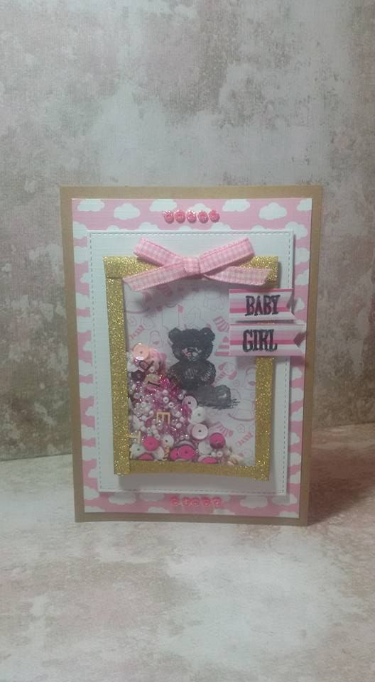 Baby card with atc shaker