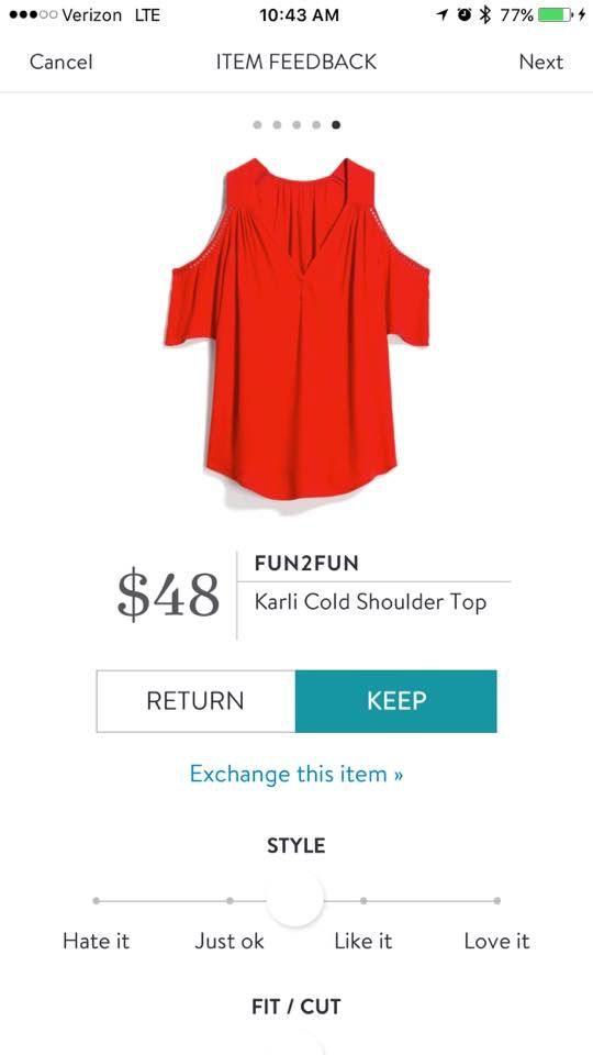 Love the cut of this top! Not crazy about,the color unless it's Orange in hue, then Yes, please ( it looks red in the pic, not a good color on me)!