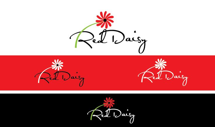 Logo Design - Red Daisy Health Playful, Personable Logo Design by sloggi