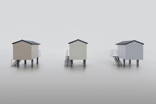 """""""Huts"""" por Neil Burnell. #arte #fotografia #minimalismo"""