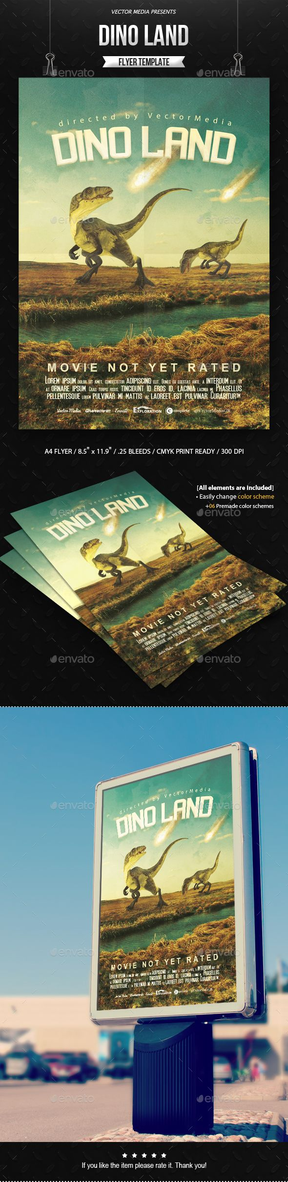 Dino Land - Movie Poster