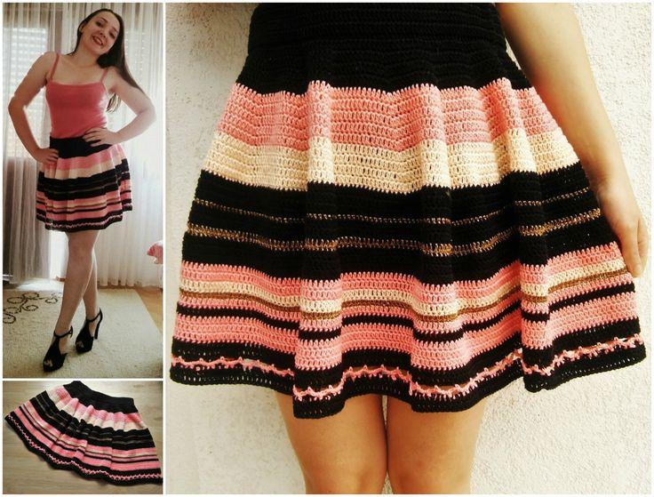 Crochet Skater Skirt · The Magic Loop