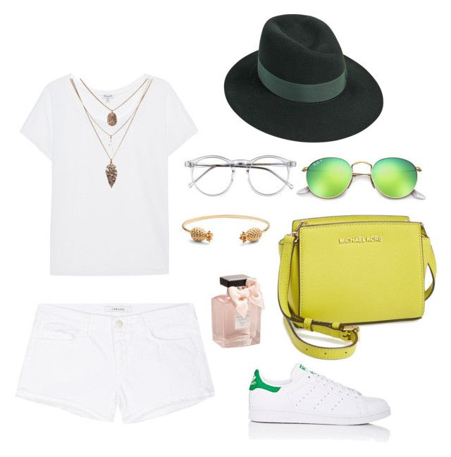 """casual Saturday look"" by alegaravito on Polyvore featuring moda, adidas, J Brand, Wildfox, Rachel Jackson, Abercrombie & Fitch, Splendid, MICHAEL Michael Kors, Ray-Ban y Maison Michel"
