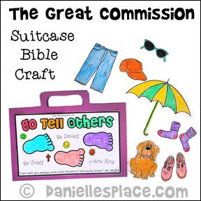 Go Tell Others Great Commission Bible Craft for Sunday School from