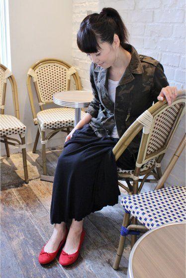 スエードバレーシューズ。普段使い出来るおしゃれアイテムスエードバレエシューズのファッションスタイルコーデを集めました♡