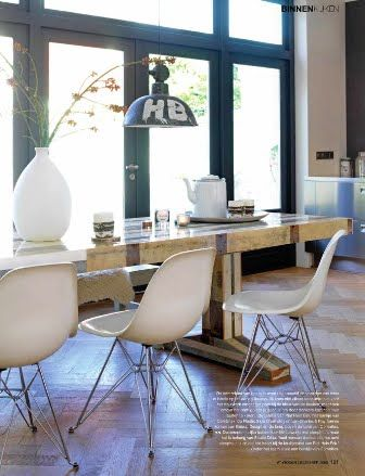 Piet Hein Eek table & eames