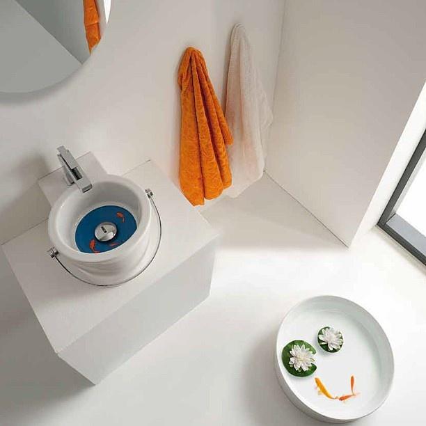 #Kypriotis #Design #Innovation #Bathroom #Tiles   Colorful washbasin overview