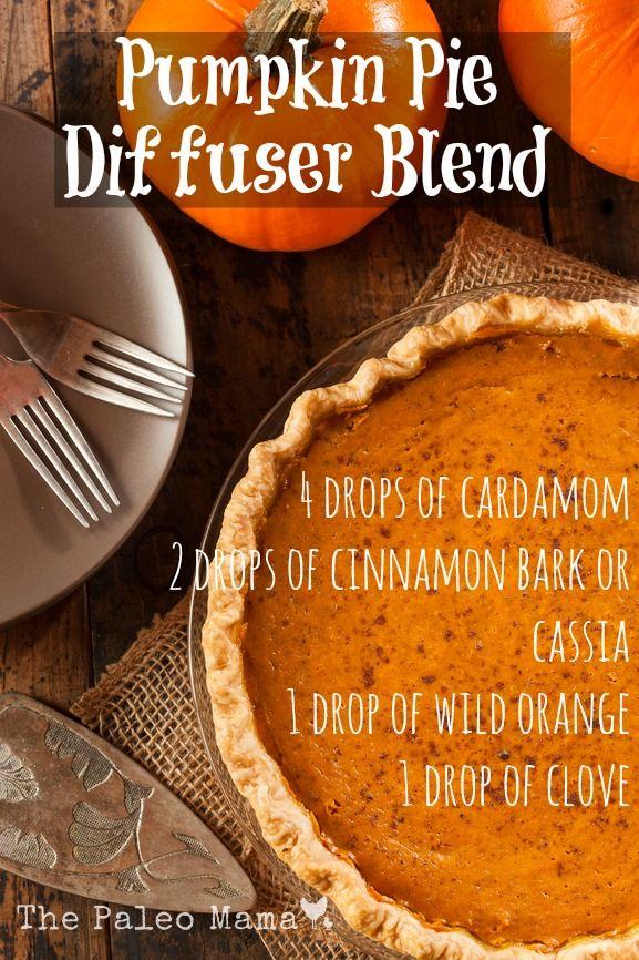 Pumpkin Pie Diffuser Blend   www.thepaleomama.com/essential-oils