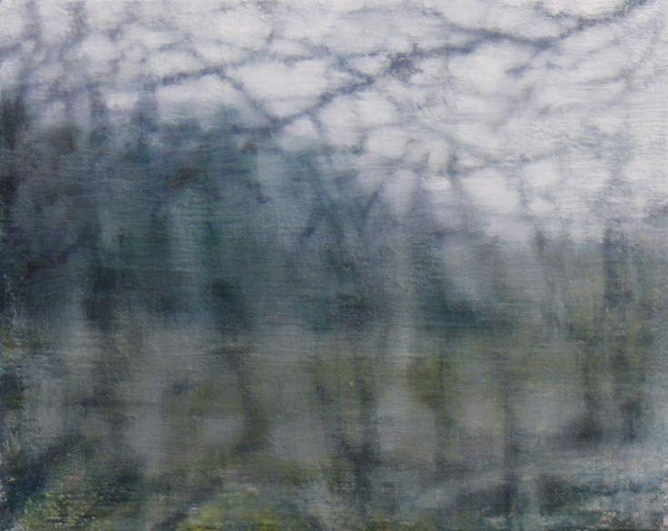Joanna Logue Essington Window Hillside 2014 Oil on Canvas 45x50cm $3,200
