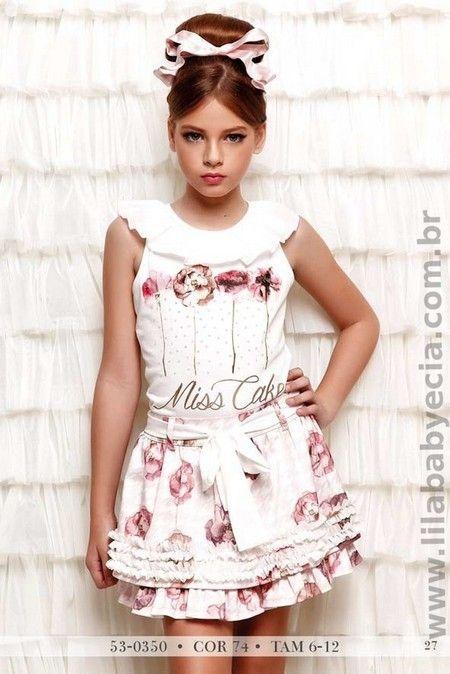 BLUSA Infantil  Com SAIA Miss Cake Doce Princesa 530350                                                                                                                                                      Mais