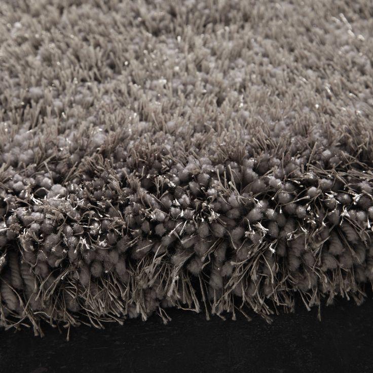 Tappeto grigio a pelo lungo 160 x 230 cm POLAIRE