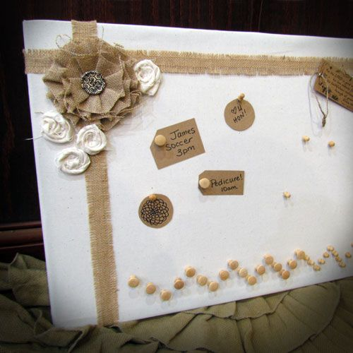 Top 25 ideas about ribbon bulletin boards on pinterest for Burlap ribbon craft ideas