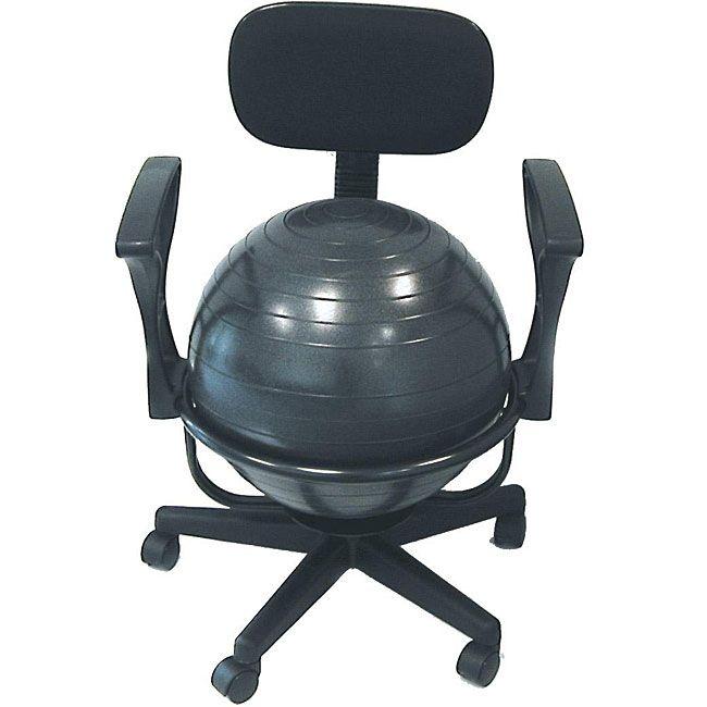 Cando Ball Office Chair, Grey metal